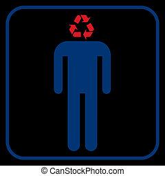 リサイクル, ベクトル, 人