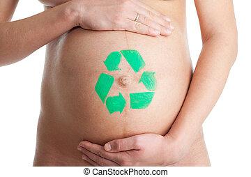 リサイクル, 新しい, 生きている, 概念