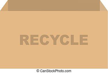 リサイクル, 箱, ベクトル