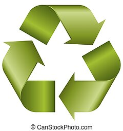 リサイクル, 緑, 印