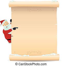 リスト, santa, 指すこと, クリスマス