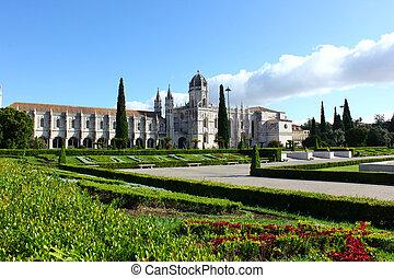 リスボン, jeronimos, 修道院, ポルトガル