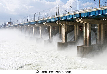 リセットされた, 力, 水力電気, 水, 駅, 川
