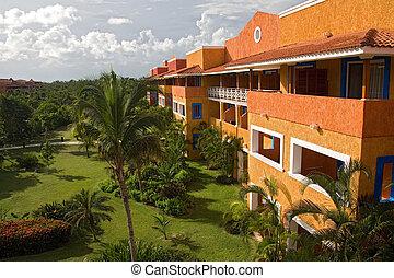 リゾートホテル, 光景, 部屋, メキシコ\