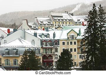 リゾート, スキー, 山