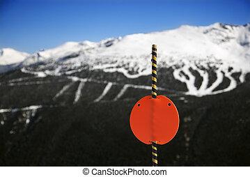 リゾート, スキー, mountain., 道