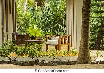 リゾート, バンガロー, 浜