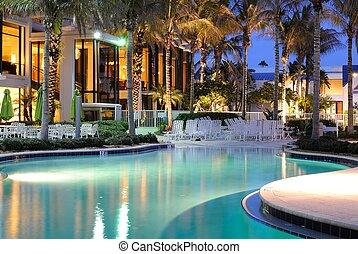 リゾート, プール, 水泳
