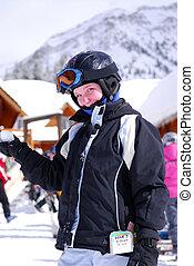 リゾート, 子供, 滑降スキー