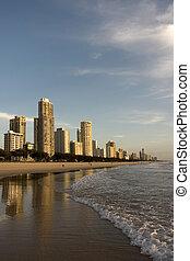 リゾート, 浜, アパート