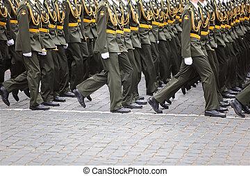 リハーサル, 兵士, 未確認, 3月, 士官