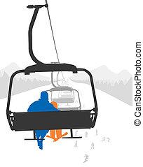 リフト, スキー