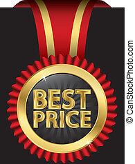 リボン, 価格, vect, 最も良く, ラベル