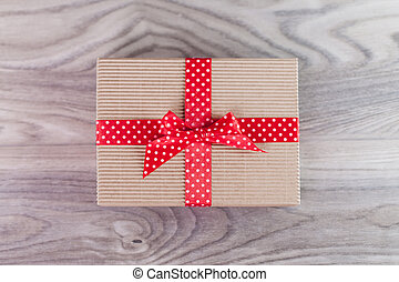 リボン, 木, 贈り物の箱, 赤