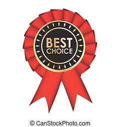 リボン, 生地, 現実的, 隔離された, 賞, 選択, バックグラウンド。, 赤い白, 最も良く