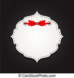 リボン, 贈り物, elements., イラスト, ベクトル, デザイン, カード
