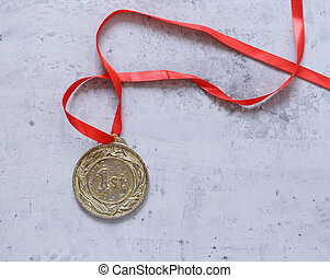 リボン, 金, 場所, 勝利, メダル, 赤, 最初に