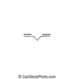 リモート, 無人機, 手, 適用, ベクトル, ロゴ, 引かれる, icon., 感じること, element.