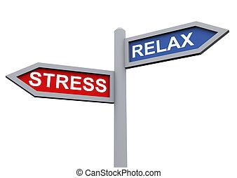 リラックスしなさい, そして, ストレス