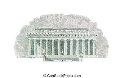 リンカーンの記念物, washington d.c., アメリカ