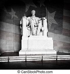 リンカーンの 記念物, そして, アメリカの旗