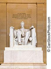 リンカーンの 記念物, 中に, ワシントン