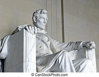 リンカーンの 記念物, dc, アメリカ