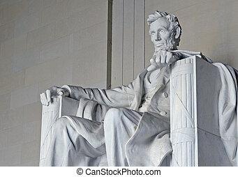 リンカーンの 記念物, washington d.c., アメリカ