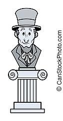 リンカーン;アブラハム, 彫刻, 漫画