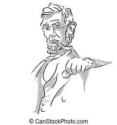 リンカーン;アブラハム, 記念, スケッチ