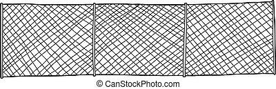 リンク, 鎖, フェンス