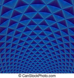 リング, の, 三角形, 中に, 青