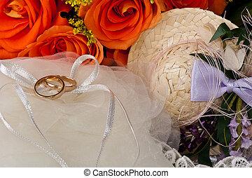 リング, ばら, 結婚式, 好意