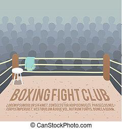 リング, ボクシング, 背景