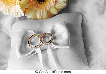 リング, 結婚式, クッション