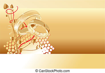 リング, 金のカード, 結婚式