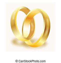 リング, 金, 結婚式