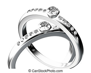リング, 銀, 結婚式