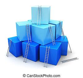リーダーシップ, 概念, 競争, ビジネス, 成功