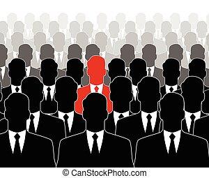 リーダー, 群集