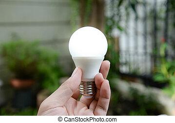 リードした, エネルギー, -, 照明, 電球, 新しい技術