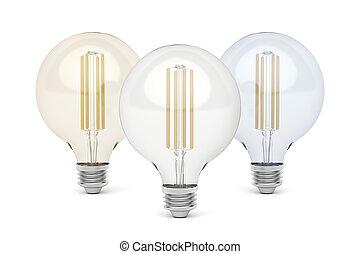 リードした, 温度が彩色する, 電球, 別