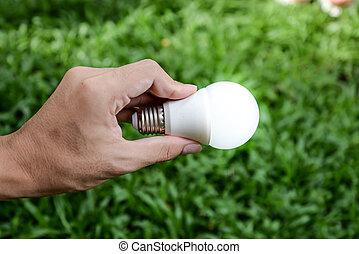 リードした, -, 照明, 新しい, 電球, 技術