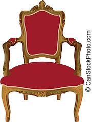 ルイ, xv, 肘掛け椅子