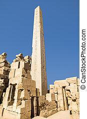 ルクソール, 古代エジプト, karnak, 寺院, 台なし