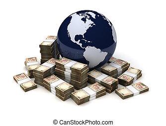 ルピー, 世界的である, indian, ビジネス