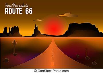ルート, 印, 歴史的, 道, 66., 66