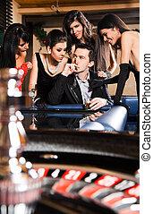 ルーレットテーブル, カジノ, 若い人々