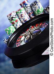 ルーレット, ギャンブル, 中に, a, カジノ