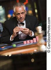 ルーレット, ギャンブル, 人, テーブル
